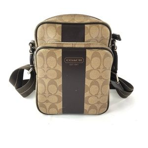 Coach Heritage Strip Flight Bag F70589 Unisex